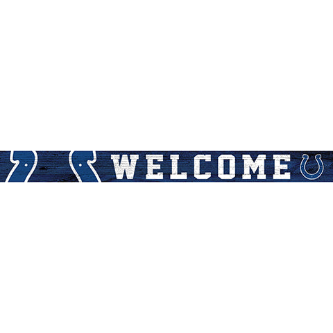 Indianapolis Colts 16in. Welcome Strip