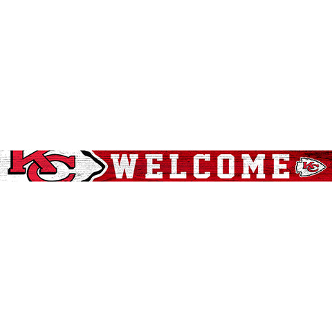 Kansas City Chiefs 16in. Welcome Strip