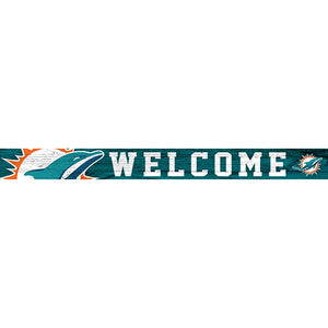 Miami Dolphins 16in. Welcome Strip
