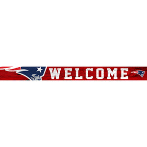 New England Patriots 16in. Welcome Strip