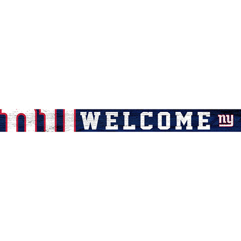 New York Giants 16in. Welcome Strip