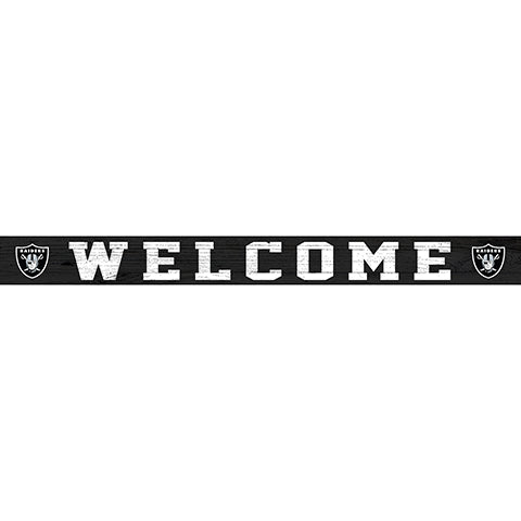 Oakland Raiders 16in. Welcome Strip