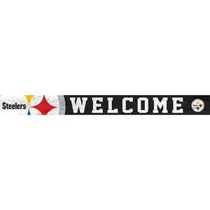 Pittsburgh Steelers 16in. Welcome Strip