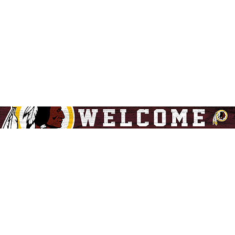 Washington Redskins 16in. Welcome Strip