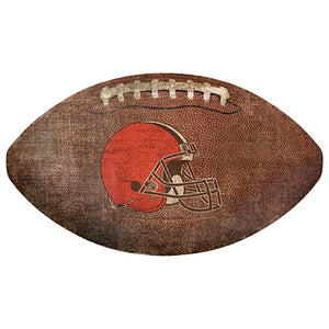 "Cleveland Browns 12"" Football Shaped Sign"