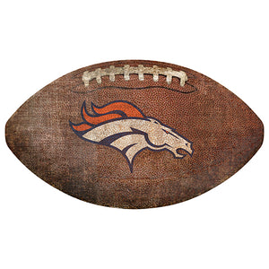 "Denver Broncos 12"" Football Shaped Sign"
