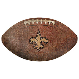 "New Orleans Saints 12"" Football Shaped Sign"