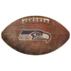 "Seattle Seahawks 12"" Football Shaped Sign"