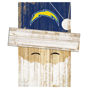 Los Angeles Chargers Santa Head