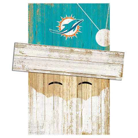 Miami Dolphins Santa Head