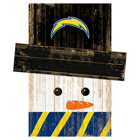 Los Angeles Chargers Snowman Head