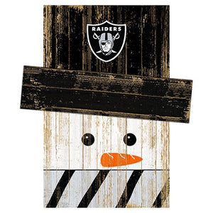 Oakland Raiders Snowman Head