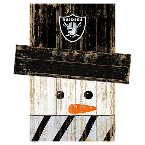 Las Vegas Raiders Snowman Head