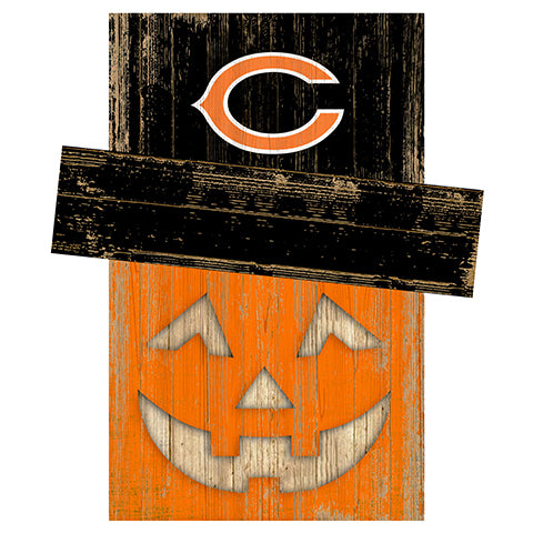 Chicago Bears Pumpkin Head w/Hat
