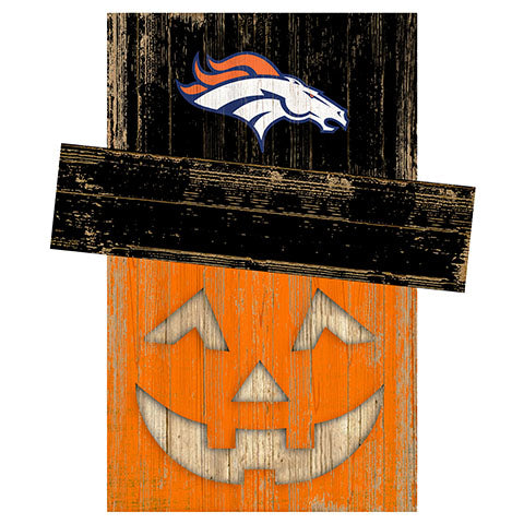 Denver Broncos Pumpkin Head w/Hat