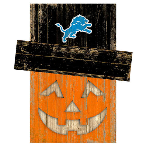 Detroit Lions Pumpkin Head w/Hat
