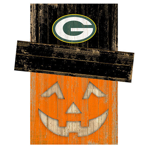 Green Bay Packers Pumpkin Head w/Hat