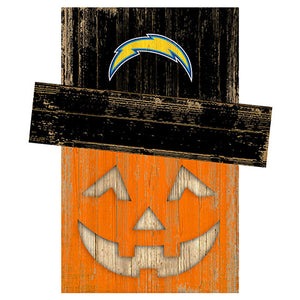Los Angeles Chargers Pumpkin Head w/Hat