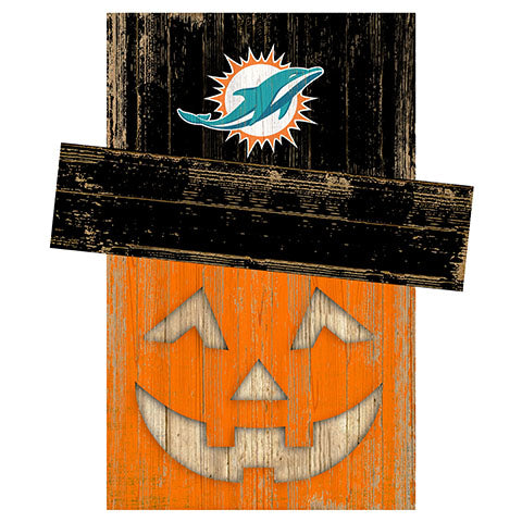 Miami Dolphins Pumpkin Head w/Hat