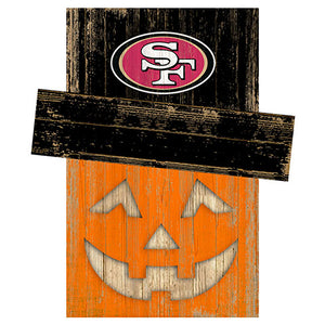 San Francisco 49ers Pumpkin Head w/Hat