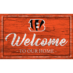 Cincinnati Bengals Team Color Welcome 11x19 Sign