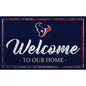 Houston Texans Team Color Welcome 11x19 Sign