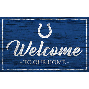 Indianapolis Colts Team Color Welcome 11x19 Sign