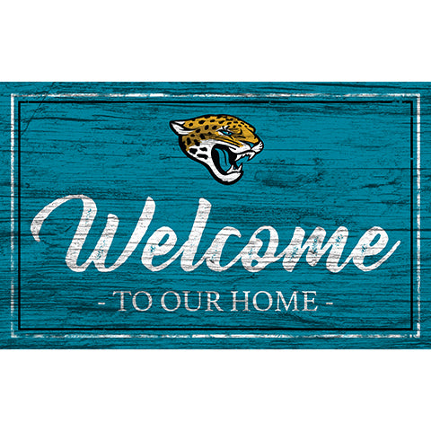 Jacksonville Jaguars Team Color Welcome 11x19 Sign