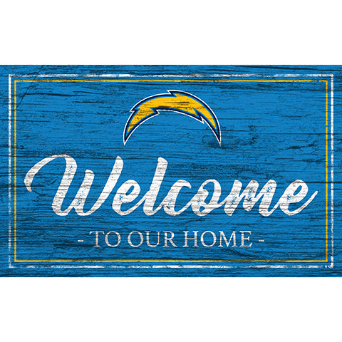 Los Angeles Chargers Team Color Welcome 11x19 Sign