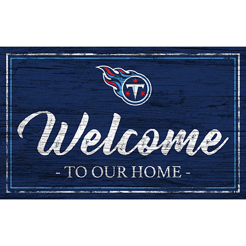 Tennessee Titans Team Color Welcome 11x19 Sign