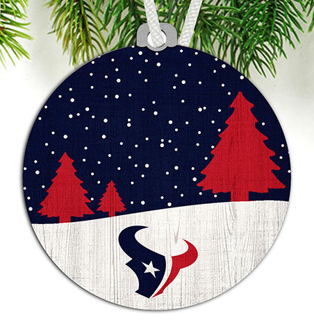 Houston Texans Snow Scene Ornament
