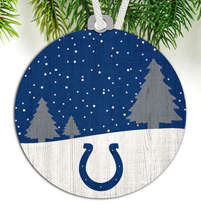 Indianapolis Colts Snow Scene Ornament