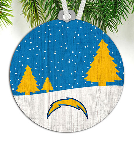 Los Angeles Chargers Snow Scene Ornament