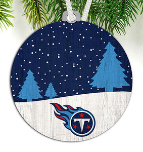 Tennessee Titans Snow Scene Ornament