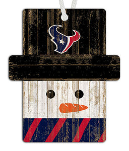 Houston Texans Snowman Ornament