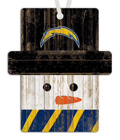 Los Angeles Chargers Snowman Ornament