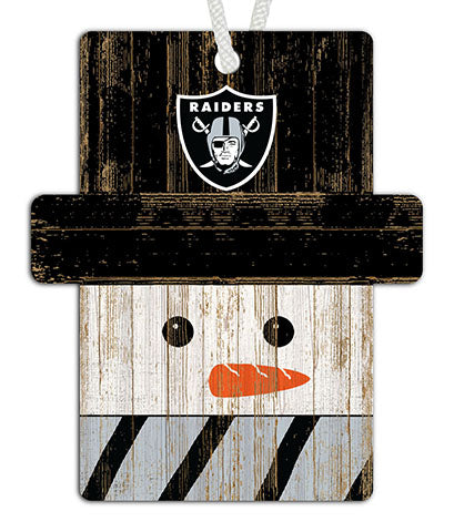 Oakland Raiders Snowman Ornament