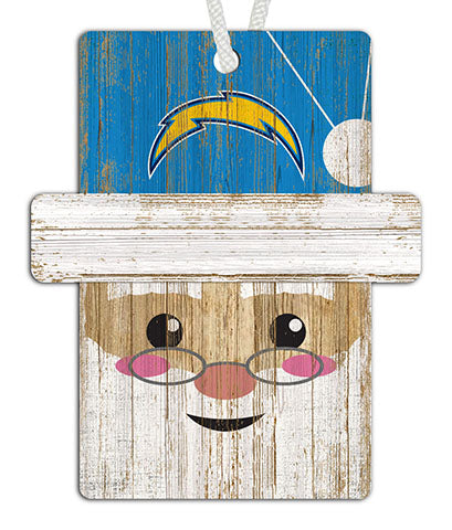 Los Angeles Chargers Santa Ornament