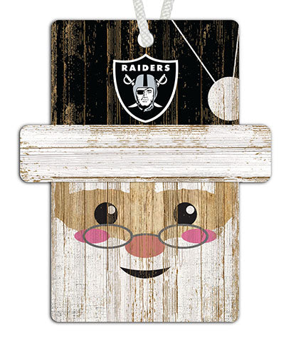 Oakland Raiders Santa Ornament