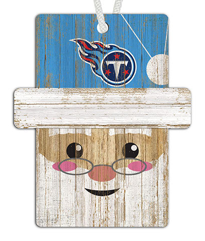 Tennessee Titans Santa Ornament