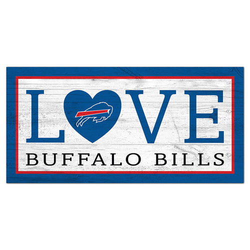Buffalo Bills Love 6x12 Sign