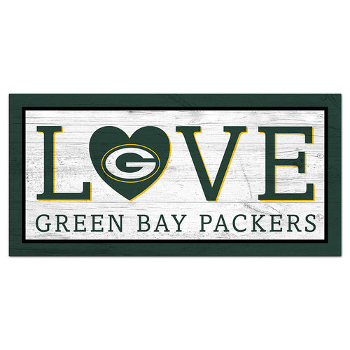 Green Bay Packers Love 6x12 Sign