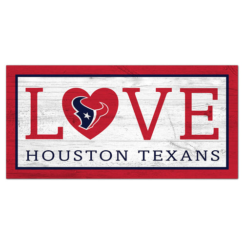 Houston Texans Love 6x12 Sign
