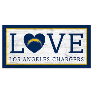 Los Angeles Chargers Love 6x12 Sign