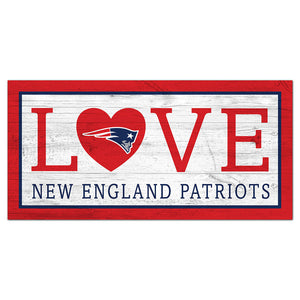 New England Patriots Love 6x12 Sign