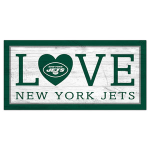 New York Jets Love 6x12 Sign