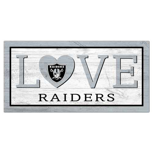 Oakland Raiders Love 6x12 Sign