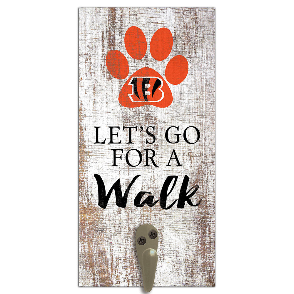 Cincinnati Bengals Leash Holder 6x12 Sign