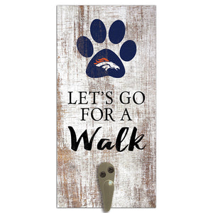 Denver Broncos Leash Holder 6x12 Sign