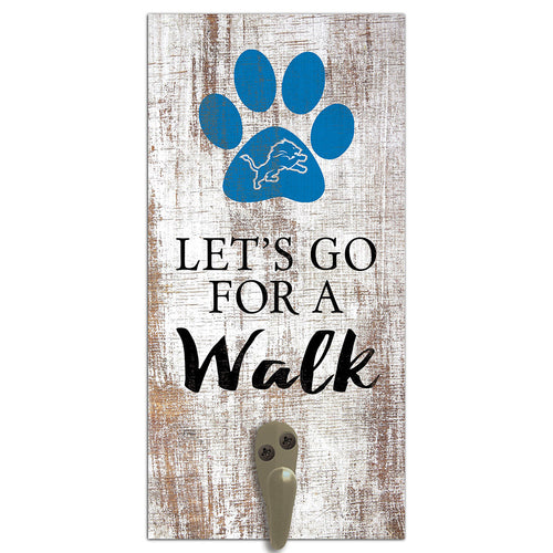 Detroit Lions Leash Holder 6x12 Sign